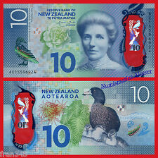 NUEVA ZELANDA NEW ZEALAND 10 Dollars 2015 Polymer Pick 192 SC /  UNC