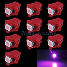 Purple Pink T5 10X B8.3D 1 SMD Dash Gauge Side Indicator Cluster LED Light 12V