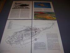 Vintage.Westland Lynx Ah Mk.1.Specs/Cutaway/3-View s.Rare! (977E)