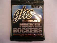 GHS BURNISHED NICKEL ROCKERS ROUNDWOUND ELECTRIC GUITAR STRINGS~010-46 LIGHT~BNR