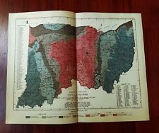 1897 USGS Map of OH & IN from Orton's Phinney's and Gorby's Maps Frank Leverett