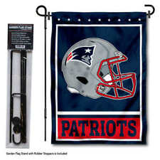 New England Patriots Football Garden Flag and Yard Stand Included