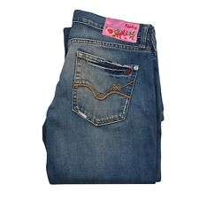 Replay Women Denim Jeans size W27 L34 blue Boot cut Pants zip fly 100% Authentic