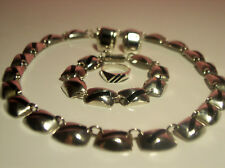 Gorgeous Silver 925 Necklace, Bracelet, Earrings,Ring Nice Design Made in Mexico