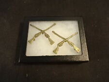RARE Old Vtg Military UK Colonial Rifle Rifles Pin LOT of 2 Lapel Jewelry