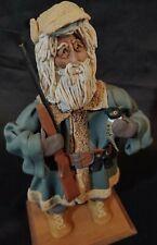 Vtg CLAY ART Whimsical Elderly Man Dad Grandpa Bird Hunter Sculpture SIGNED Fay!