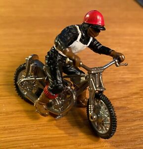 Vintage 1970s Britains model Speedway Racer - motorcycle and rider