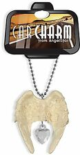 Guardian Angel Ivory Rear View Mirror Charm Crystal (15481)NEW from AngelStar