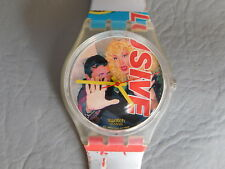 SWATCH GENT MONTRE BRACELET ROUGE HOMME FEMME NEVER SEEN BEFORE GK 258 WATCH 96