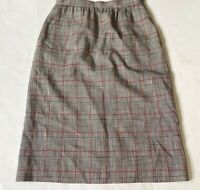 Dalton Sport Vintage Skirt Houndstooth Plaid Black Red USA ILGWU Size 6