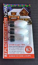 NOMA R3 12V 3W E10 SCREW-IN WHITE SPARE BULBS WITH FUSE BULB 192QW (1343)