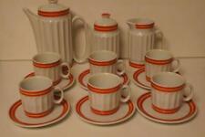 IRIS CLUJ EXPRESSO COFFEE SET,COFFEE POT,MILK JUG,SUGAR BOWL,CUPS & SAUCERS