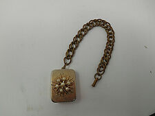 Vintage Pearl starburst chain bracelet Swiss music box gold tone