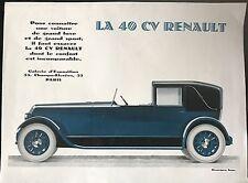 LA 40 CV RENAULT GALERIE D'EXPOSITION 53 CHAMPS ÉLYSÉES  A PARIS