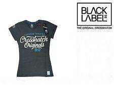 Crosshatch Women's girls Pepper Short Sleeve Crew Neck T-Shirt Charcoal Size:XS