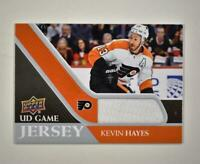 2020-21 UD Series 1 Game Jersey Relic #GJ-KH Kevin Hayes  - Philadelphia Flyers