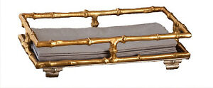 """""""BAMBOO GROVE"""" DECORATIVE PAPER GUEST TOWEL HOLDER - GOLD FINISH"""