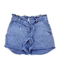 Womens High-Rise Paperbag Waist Jean Shorts Wild Fable Large Size L W32 X L2.75