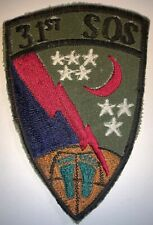 USAF OD 31ST SOS SPECIAL OPERATIONS SQUADRON PATCH USED (A443)