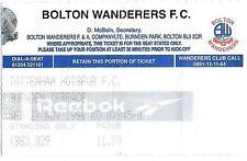 Football Ticket>BOLTON WANDERERS v TOTTENHAM HOTSPUR Nov 1996 Coca-Cola Cup