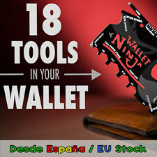 Wallet Ninja 18 in 1 Multitool - Survival - Stainless steel credit card size!