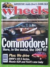 Wheels Jul 1996 Ford Falcon XR6 Ute Holden Commodore S V8 Ute de Tomaso Guara