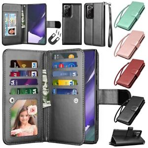 For Samsung Galaxy Note 20 Ultra Note 10+ 10 9 8 Wallet Case Leather Stand Cover