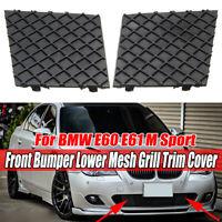 2PCS Left + Right Front Bumper Lower Mesh Grill Trim For BMW E60 E61 M
