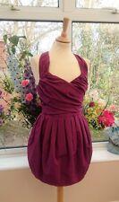 Stunning ALL SAINTS Fuchsia purple elliah bubble puff ball party dress size 12