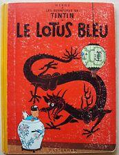 Tintin Le Lotus Bleu HERGE éd Casterman B 31 1962