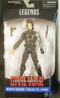 "Marvel Legends Series Captain America Civil War 6"" Winter Soldier Bucky Figure"