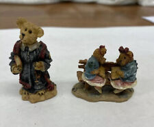 2 Boyds Bears Chapel In The Woods Figurines Rev. Bruin & Justina & Melvin