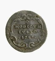 s759_3) ROMA. Benedetto XIV (1740-1758). Mezzo grosso 1757
