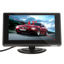 US 4.3'' Color TFT LCD 2-CH Video Input DVD VCD Car Rear View Monitor Headrest
