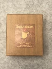 English Leather Cologne and Aftershave Gift Set 2 Oz Each Vintage New in Box