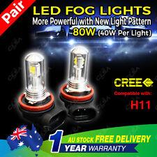 2PCS 80W H11 LED CREE 9-32V High Power Fog Car Light Daytime Running Bulb Globe