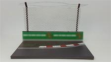 FRG 1:43 B/J Curved F1 Model Track Diorama Base Crash Barrier & Safety Fencing