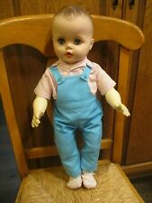 """Vintage 1950's 22"""" Drink Wet Newborn Baby Doll With Molded Hair Eye open close"""