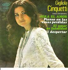 EP GIGLIOLA CINQUETTI gira el amor + 3 SPANISH SUNG MEXICO 45 rare PS 1972