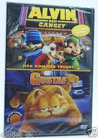 Alvin and the chipmunks + GARFIELD THE MOVIE BOX SET DVD Región 2 Nuevo Sellado