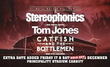More details for stereophonics + tom jones 2 x tickets. 17th december 2021 principality stadium