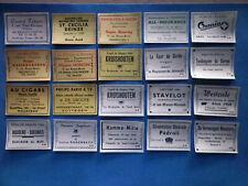 Etiquette d'allumette ancienne 20 matchbox label Belgique publicités diverses