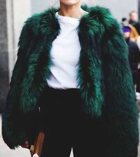 ZARA Woman Faux Fur Jacket Kunst Fell Jacke Grün Neu Blogger Ausverkauft