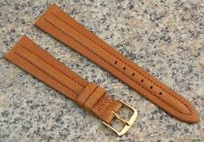 19mm Stylecraft TAN Genuine EXPO CALF Watch Band NOS Strap Made in CANADA #426