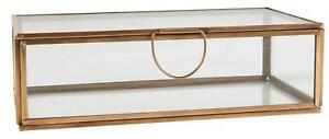 Ib Laursen ✩ Metall Glas Box mit Deckel länglich Messing **EDEL**