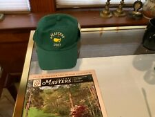New listing MASTERS 2007 GOLF HAT AND PROGRAM