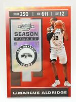 Panini Contenders Optic 2019-20 red prizm carte card #53 LaMarcus Aldridge