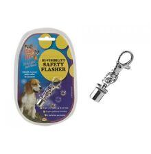 Pet Dog Cat Collar Flashing LED Light Tag Safety Flasher Hi Visibility Viz