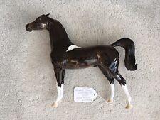 Breyer Peter Stone Arabian Horse Glossy Nansen Angry Pinned Ears Chestnut Paint