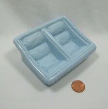 PLAYSKOOL Dollhouse TWIN BABY Pram Stroller Insert BLUE CARRIER Can use separate